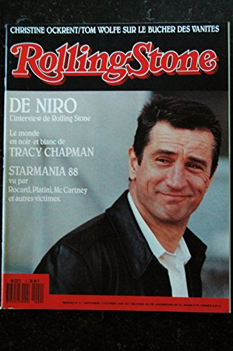 ROLLING STONE 009 N° 9 Christine Ockrent DE NIRO Tracy CHAPMAN Starmania 88 Meg RYAN