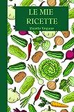 Le Mie Ricette: Ricette Vegane | Ricettario da scrivere | Quaderno da compilare per 100 ricette | Taccuino per ricette con indice e spazio per le note ... crema | Formato 6 x 9 (15,24 x 22,86 cm)
