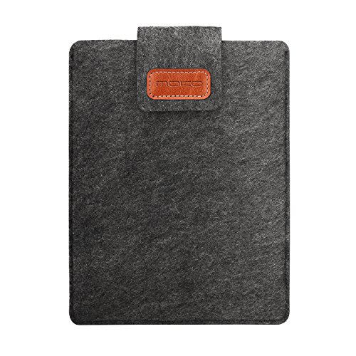 MoKo Funda de Fieltro Kindle Oasis 2017 7 Pulgadas - Sleeve Bag Maletín de Carpeta Cover Compatible con iPad Mini 4/3 / 2/1, Fire 7 2019/2017, Samsung Galaxy Tab S2 8.0, Tab 3 7.0 - Gris Oscuro