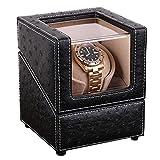 Barriles de madera para relojes, enrolladores de un solo reloj para relojes automáticos, barriles de relojes de motor ultra silenciosos, adecuados para relojes de señora y caballero, caja individual