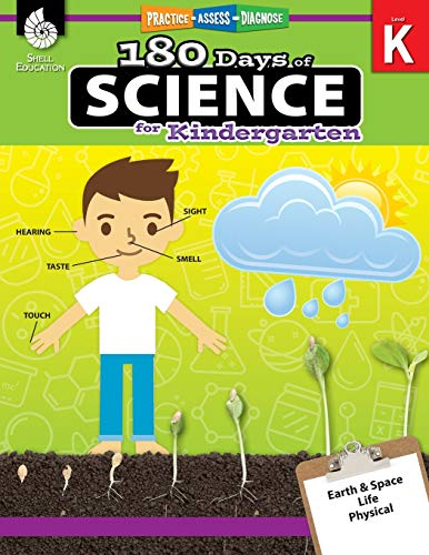 180 Days of Science: Grade K - Daily Science Workbook for Classroom and Home, Cool and Fun Interacti