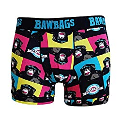 Patterned boxers with monkeys.