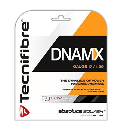 Tecnifibre Cuerdas dnamx Squash Black 1,20mm, 9,5MTR Escobillero, 122380