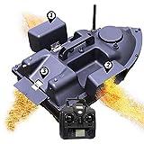 Rc Boot, Futterboot Angeln, Köderboot, Futterboot mit Echolot und GPS, Entfernung GPS Cruise Köder-Boot mit 12000Mah Batterie 3 Unabhängigen Köderfächern NachtlichtGPS