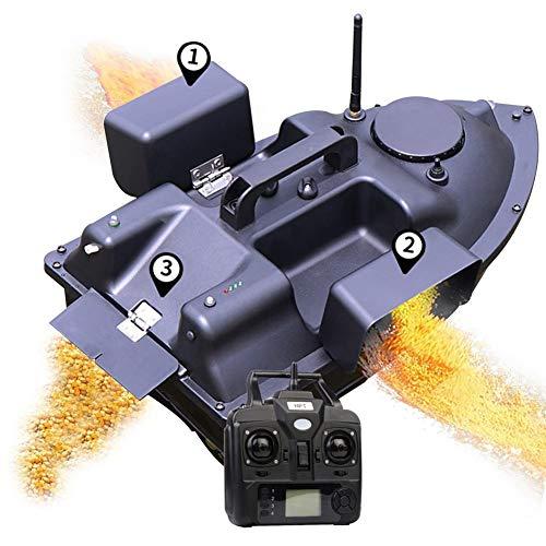 MZNTBW Rc Boot, Futterboot Angeln, Köderboot, Futterboot mit Echolot und GPS, Entfernung GPS Cruise Köder-Boot mit 12000Mah Batterie 3 Unabhängigen Köderfächern NachtlichtGPS