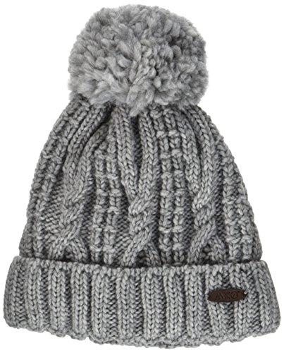 maximo Mädchen Mütze mit Pompon 63574 - 236600_5, Gr. 53/55, Grau (Metallmel. 5)