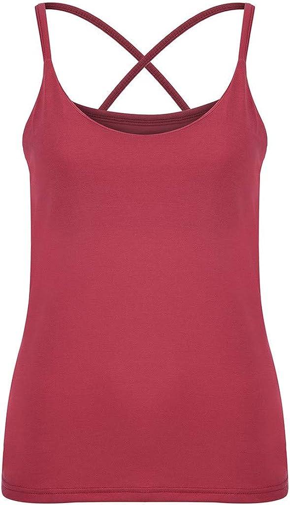 hositor Tank Tops for Women New Women Ladies Summer Casual Slim Tak Tops V-Neck Shirts Vest