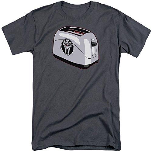 Battlestar Galactica Herren Toaster Tall T-Shirt, XXX-Large, Charcoal