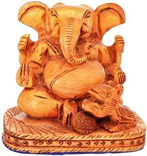 Wooden Ganesh Ganesha Statue Idol - Intricately Hand Carved Home Decor, Ganpati Temple