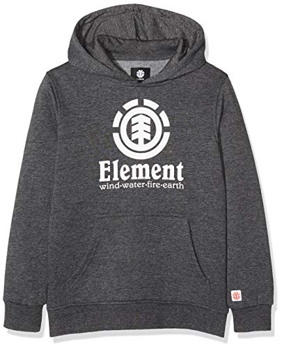 Element Vertical Hood Boy Fleece, Niños, Charcoal Heathe, 14
