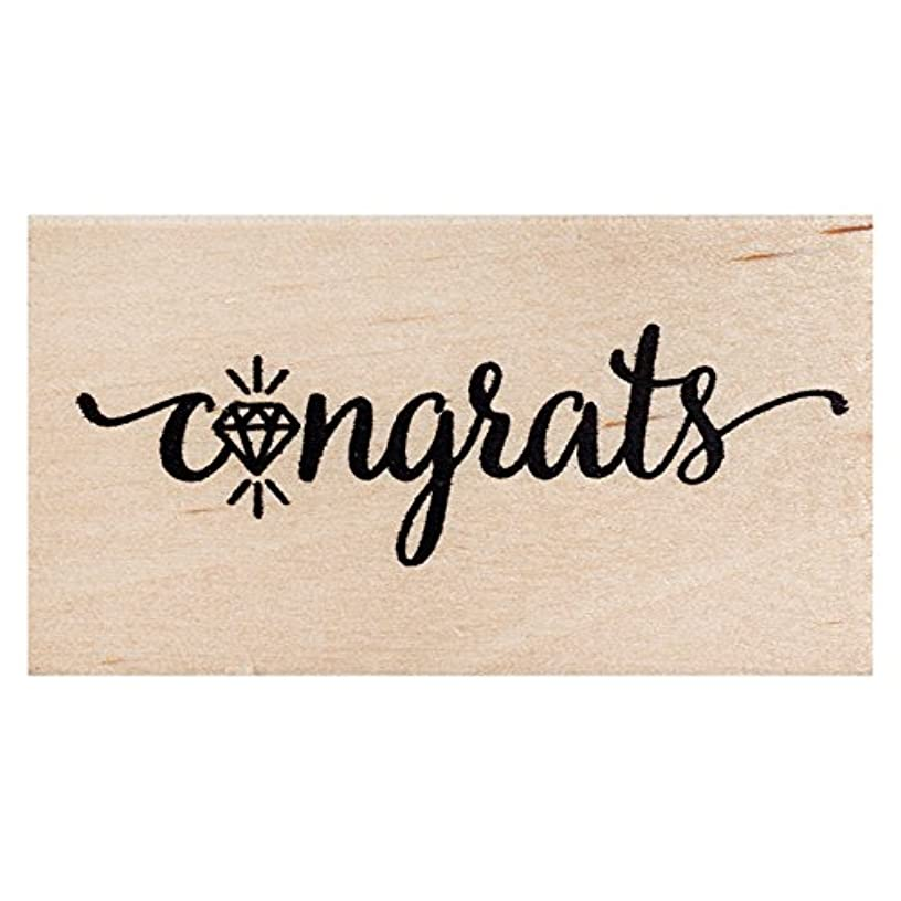 American Crafts 347744 Congrats Stamps, Wood