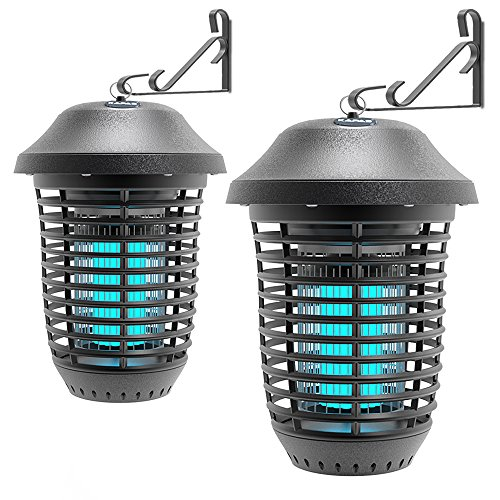 Kapas Electric Bug Zappers, New Upgrade with Free Hanger 40W Outdoor Pest Control Lantern for Mosquitoes, Flies, Gnats, Pests & Other Insects, 1 Acre Coverage (2 Pack)