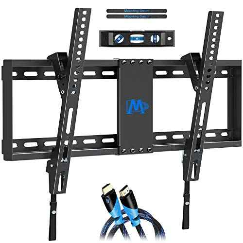 """Mounting Dream Tilting TV Wall Mount for Most 37-70 Inches Flat Screen TVs, TV Mount - Wall Mount TV Bracket up to VESA 600x400mm and 132 lbs - Easy to Install on 16"""", 18"""", 24"""" Studs"""