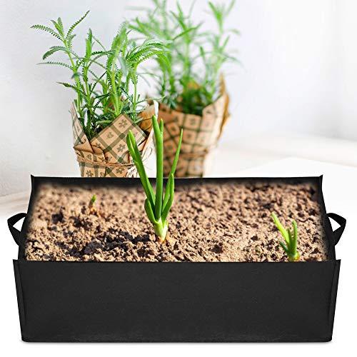 Simlug Waterproof Strawberry Vegetable Fabric Planter, Fabric Grow Bags Plant Bag, Garden Beds Outdoor for Balcony Garden Home Furnishings Window(Large (603020cm))