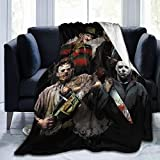 Halloween Michael Myers 3D Printing Fleece Throw Blanket for Couch Sofa Or Bed Throw Size Super Cozy and Comfy for All Seasons