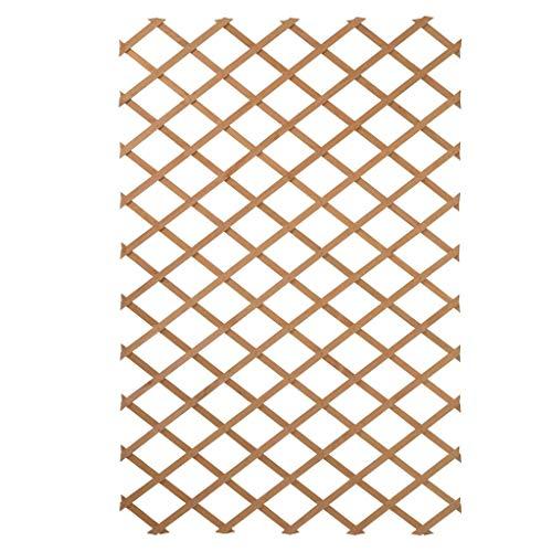 Nature Holz Garten-Rankgitter Rankhilfe Scherenspalier 100x200cm Natur