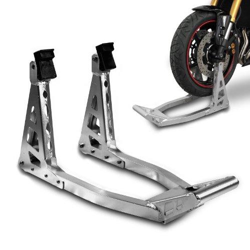 ConStands - Motorrad Montageständer Motorradheber Vorderrad Vorne Superlight Front Silber