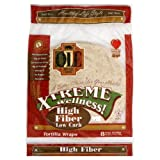 Ole Mexican High Fiber Low Carb Flour Tortillas, '8 Count (Pack of 6)