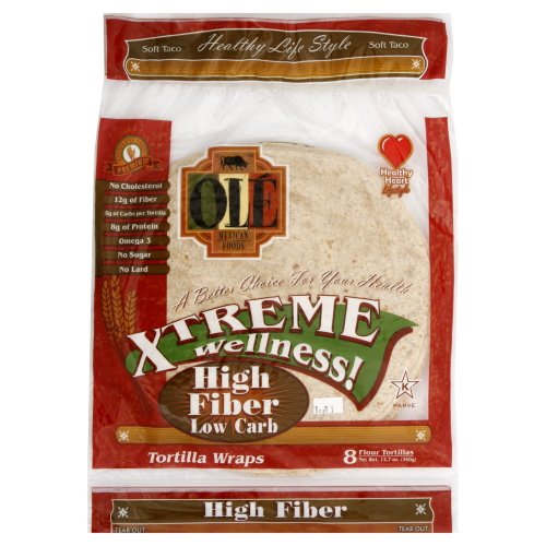 Ole Mexican High Fiber Low Carb Flour Tortillas, 12.7 Ounce (Pack of 6)