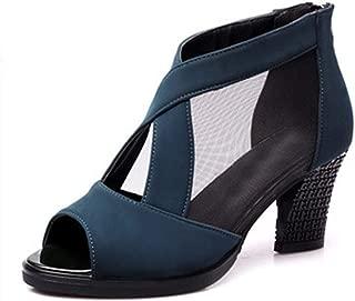 Inlefen Dancing shoes Women's Network yarn Dancing sandals casual shoes