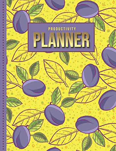 Productivity Planner: Purple Plum Fruit Art Pattern on...