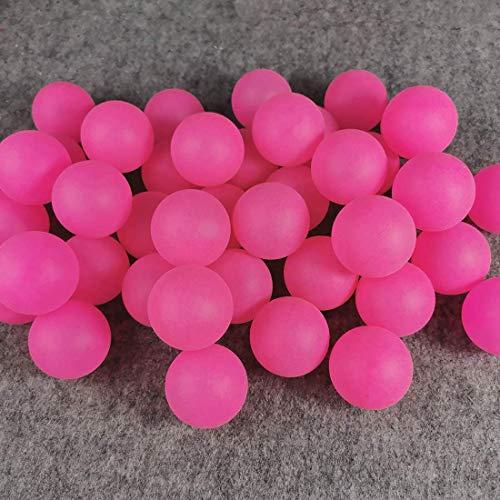 BIGTREE 50 juguetes para gatos con bolas de ping pong para decoración artesanal de Lotteria Beer Pong para fiestas, bomboneras, juguetes de agua, color rojo