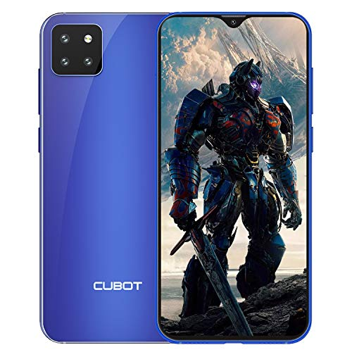 CUBOT X20 Smartphone ohne Vertrag, 4GB RAM/64GB, 6.3 Zoll FHD Bildschirm, 4000mAh, 3 Kameras, 4G Dual SIM, 256GB Erweiterbar, Android 9.0, Face-Unlock, Blau