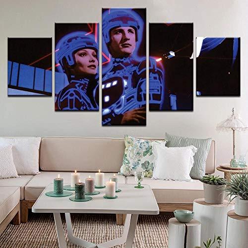 Cuadros Decor Salon Modernos 5 Piezas Lienzo Grandes Xxl Murales Pared Hogar Pasillo Decor Arte Pared Abstracto Tron Hd Impresión Foto 150X80Cm Regalo