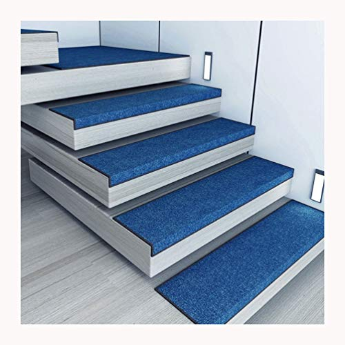 By Alfombrillas para Escaleras,Conjunto De 15 Silencioso Alfombrillas para Peldaños Alfombras para Peldaños Alfombrillas Escaleras Rectangular (75X26cm) (Color : Royal Blue, Size : X1 30x85cm)