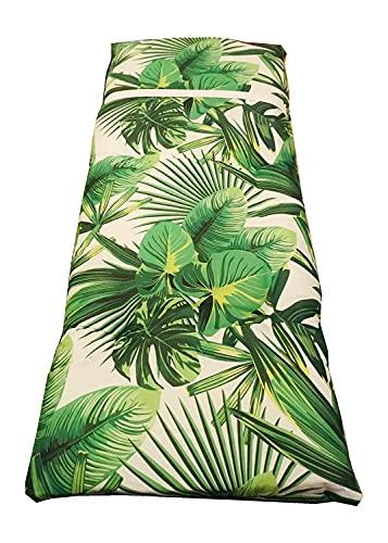 Cojín Tumbona. Colchóneta para Tumbona Medidas 120x55X8cm. Hoja Verde。 (verde hoja)
