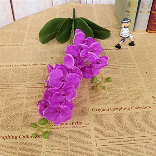 HYLZW Kunstbloem potplant 60 cm kunstbloemen potplanten latex valse orchidee 2 takken bladeren vlinder orchidee voor thuis bruiloft tafeldecoratie