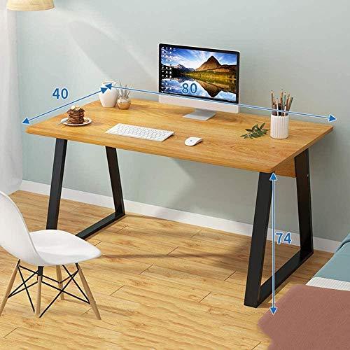 Escritorio de computadora para oficina en casa Escritorio de estación de trabajo grande Computadora PC Mesa para computadora portátil Mesa de juegos con almacenamiento Madera de cerezo de arce de una
