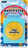 Daily Positivity Talking Button - Says 50 Positive Quotes and Affirmations - Stick On Fridge or Desk - Funny Inspirational Gifts for Men and Women - Novelty Motivational Happy Office Gadgets Toy