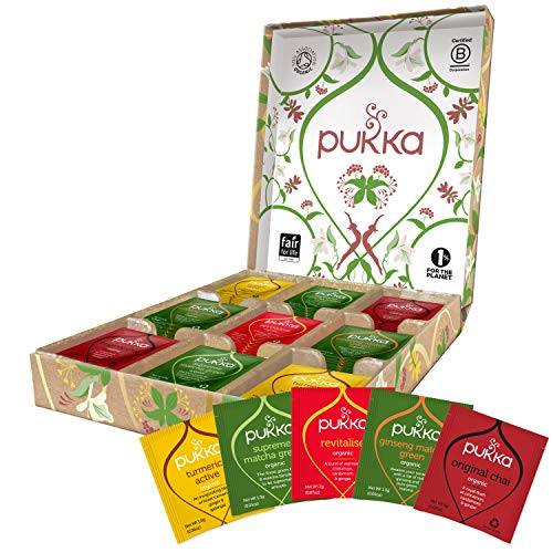 Pukka Herbs Organic Active Energy Healthy Tea Gift Selection Box, (45 Sachets)