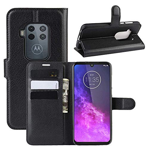 Capa Capinha Carteira 360 Para Motorola Moto One Zoom Tela De 6.4Polegadas Case Couro Flip Wallet - Danet (Preta)