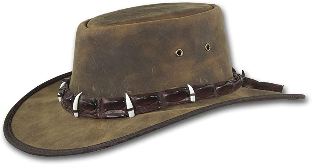 Barmah Hats Outback Deluxe Crocodile Leather Item Manufacturer direct delivery - 1033 Hat
