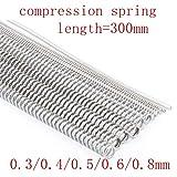 10PC 6X18mm Molla di Torsione accumulatore Spring Spring Meccanica for la Fabbricazione del Modello Fai da Te e Montaggio Taglia : 10PC 6X18mm NO LOGO W-NUANJUN-Spring