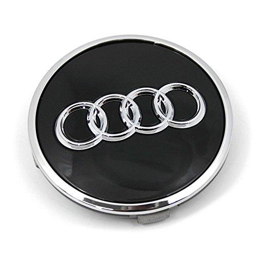 Audi 8W0601170A Radzierkappe (1 Stück) Nabenkappe Nabendeckel Felgendeckel Alufelgen, schwarz glänzend