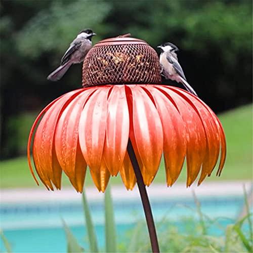 Umweltfreundlicher Vogelhäuschen Kunststoff für Gartenvögel - Anziehen von Titten, Finken, Rotkehlchen und vielen weiteren Wildvögeln Sonnenhut Vogelhäuschen Wildvogelhäuschen Kolibri Feeder (Rot)