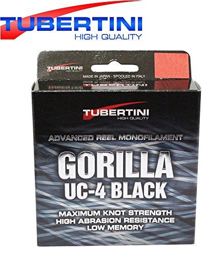 Tubertini UC 4 Gorilla Schnur 350m - Monofile Angelschnur zum Forellenangeln, Monoschnur zum Angeln auf Forelle, Forellenschnur, Durchmesser/Tragkraft:0.22mm / 5.70kg Tragkraft