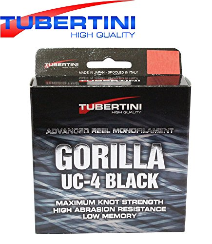 Tubertini UC 4 Gorilla Schnur 350m - Monofile Angelschnur zum Forellenangeln, Monoschnur zum Angeln auf Forelle, Forellenschnur, Durchmesser/Tragkraft:0.18mm / 4.00kg Tragkraft