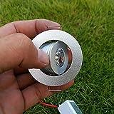 YASEking 1W 3W Mini LED Techo Spot Light Mount Frote 12V Downlight Empotrado para gabinete Decoración interior Cálido Blanco Rojo Azul (Emitting Color : Warm White)