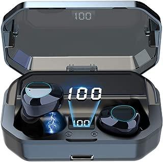 【令和最新版 6000mAh大容量 IPX7完全防水】 Bluetooth イヤホン, ワイヤレス イヤホン 完全ワイヤレスイヤホン ブルートゥース 左右分離型 自動ペアリング HI-FI 高音質 AAC対応 最新Bluetooth 5.0+EDR搭載 日本語アナウンサー 日本語説明書 音量調節可能 380時間連続駆動 技適認証済 Siri対応 iPhone & Android対応