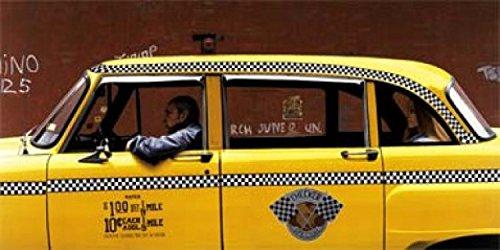 1art1 Taxis - Checker Cab by MAX Ferguson Póster Impresión Artística (100 x 50cm)
