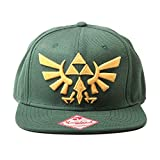 Figurine Zelda - Casquette Snapback - Green With Golden Logo