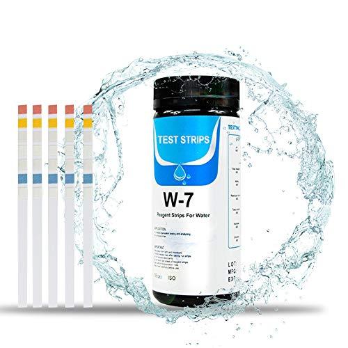 Test Agua Acuario, Tiras De Analisis De Agua, 7 en 1 Tiras