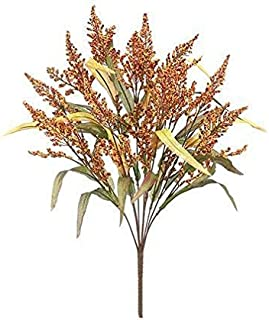 Allstate Floral & Craft Artificial Fall Heather Bush in Orange and Burgundy - 21