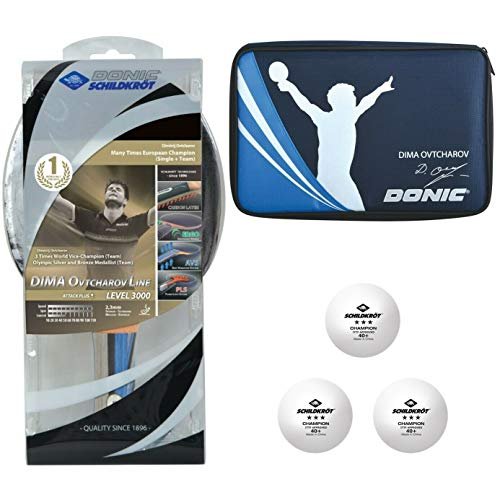 Donic-Schildkröt Unisex– Erwachsene Tischtennis Premium-Geschenkset Ovtcharov 3000 Set, Mehrfarbig, Einheitsgröße