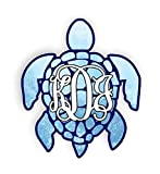 Sea Turtle Monogram Initials Car Stickers Decals Waterproof Car Styling Bumper Stickers For Car Body Door Window Stickers Vinyl 5'