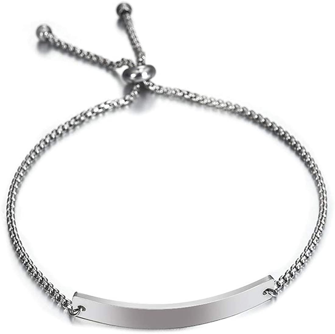 Albeads Personalized Custom Engraving Translated San Francisco Mall Steel Bracele ID Stainless